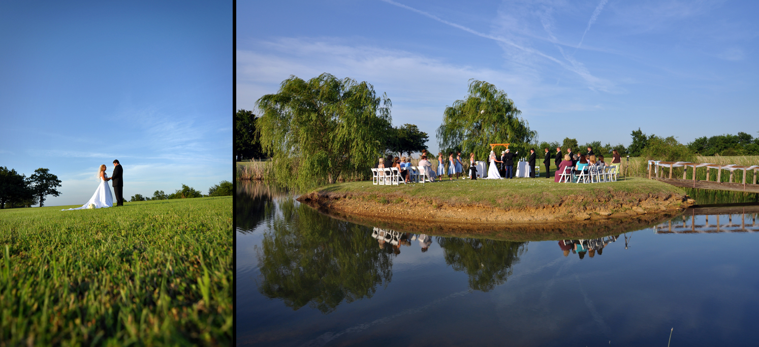 outdoor wedding with tulsa photographers 