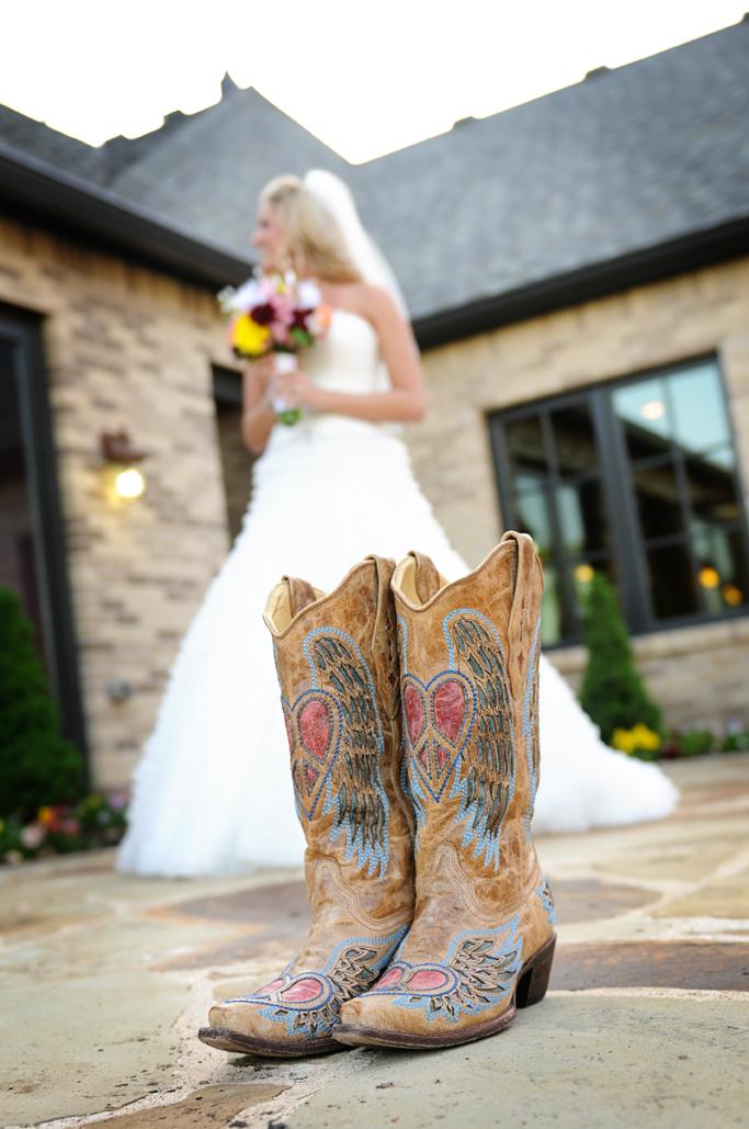 bride & boots tulsa photographers at vesica pisces