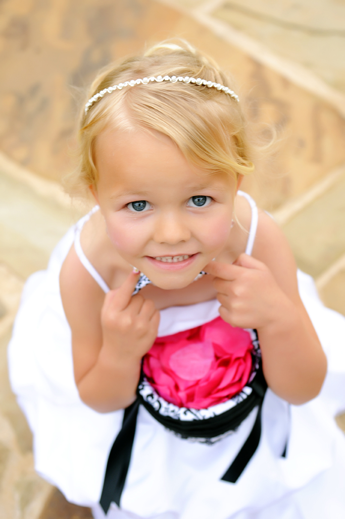 cute little flowergirl at vesica piscis tulsa