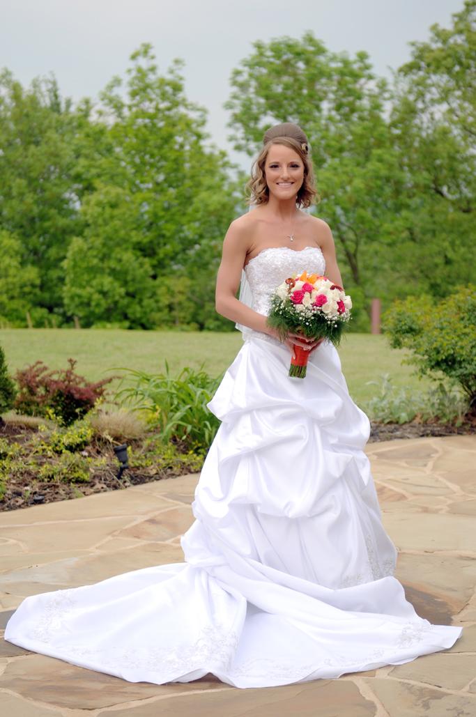 vesica piscis bridal portrait