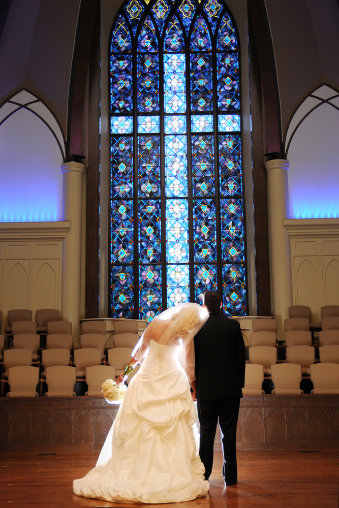 Bradley & Morgan at Tulsa First Baptist with tulsa photographers